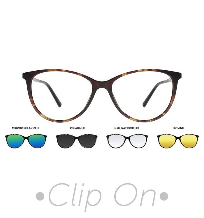 rama ochelari clip on THEMA Ultem U-241 C07M 52-15 HAVANA dama