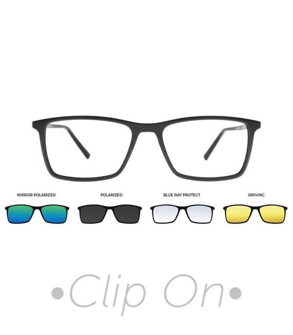 rama ochelari clip on THEMA U-242 C02M 56-17 NER barbati