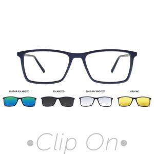rama ochelari clip on THEMA U-242 C04M 56-17 BLUE barbati