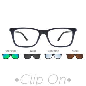 rama ochelari clip on U-244 C04M 53-17 BLUE barbati