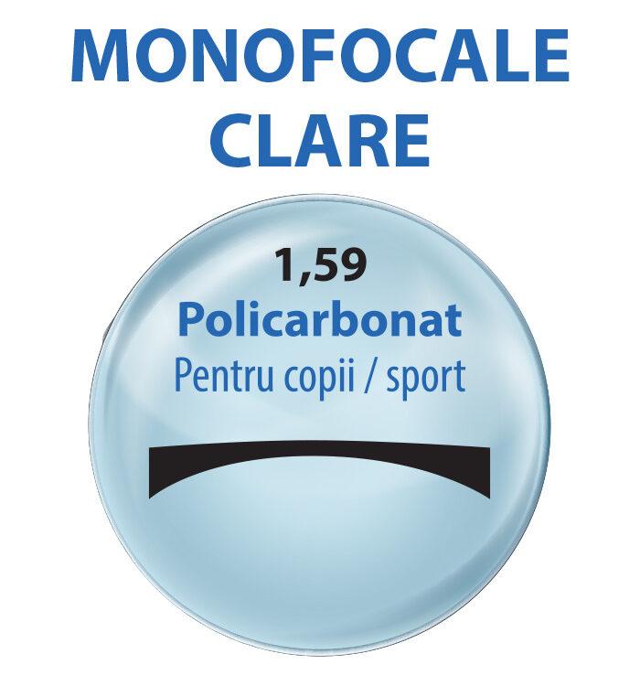 lentile MONOFOCALE clare index 1,59 policarbonat ; lentile de vedere 1,59; lentile clare; lentile policarbonat; lentile pentru copii; lentile ochelari sport; lentile aeriene; lentile normale