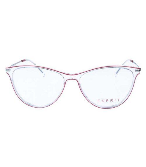 Rama ochelari Esprit ET17121-531 pentru femei din plastic + metal avand culoarea transparent - roșu. Fii in tendinte cu o rama extravaganta!