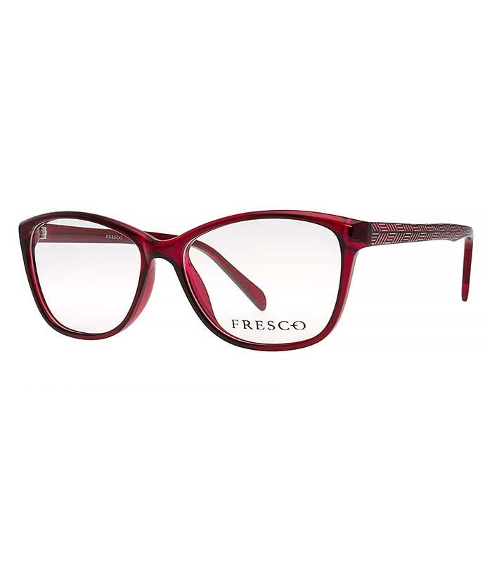 Rama ochelari Fresco 584-2 pentru femei este o rama din plastic de culoare rosie. Ramele Fresco aduc un plus de eleganta oricarei tinute. Produsul este de calitate superioara si fabricat in Polonia.