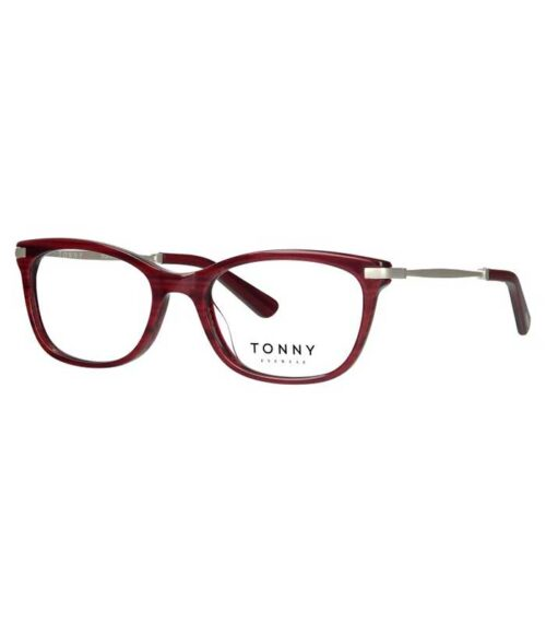 Rama ochelari TONNY 4666-c2 este o rama eleganta, in tendinte din acetat si metal de culoare rosie-visiniu ce se remarca prin calitate si durabilitate.